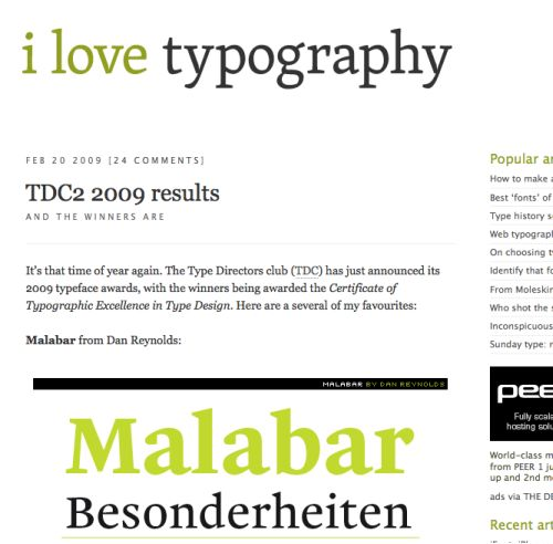 Inspiring Typography Based Blog Designs