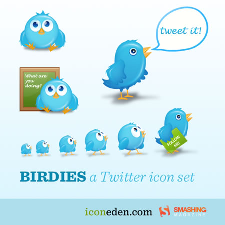 Cute Free Twitter Icons For Your Blog