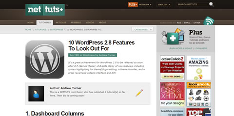 WordPress 2.8 Features
