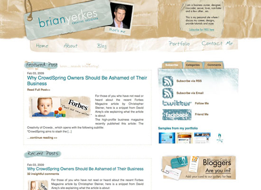 Brian Yerkes blog screenshot
