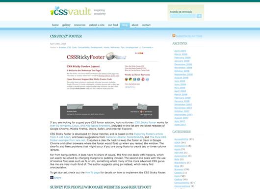 Screenshot CSS Vault