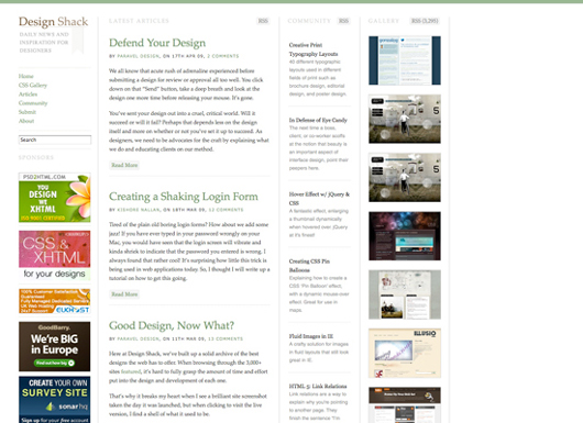 Design Shack screenshot
