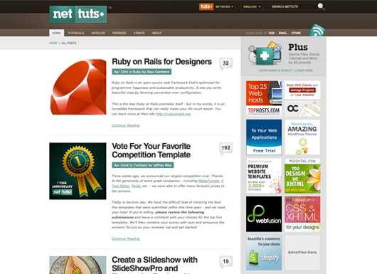 NetTuts screenshot