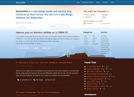 Stylized Web screenshot