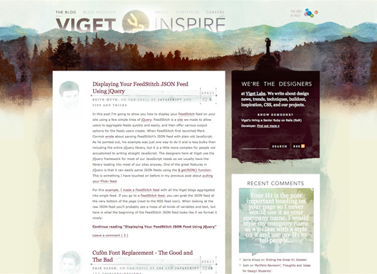 Viget Inspire screenshot
