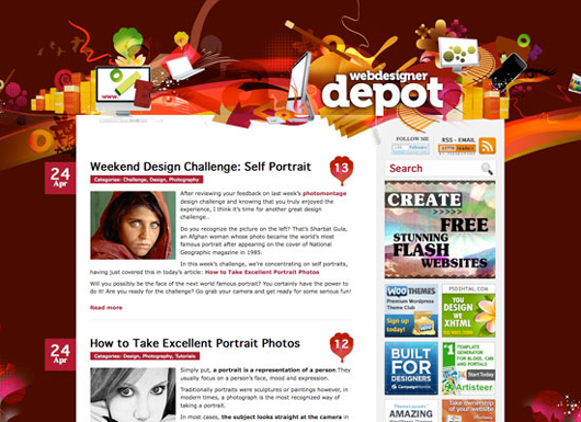 Webdesigner Depot screenshot