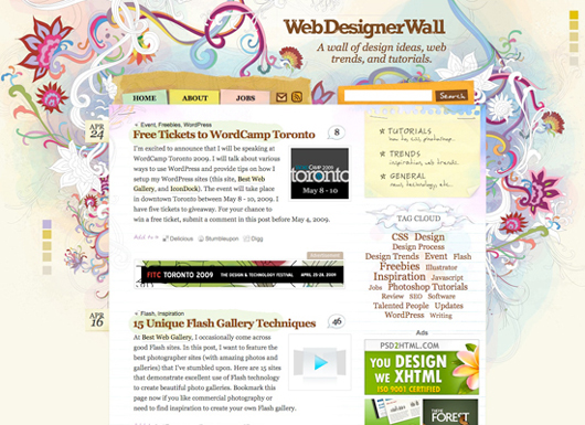 Web Designer Wall screenshot