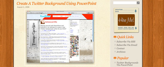 Twitter background with PowerPoint