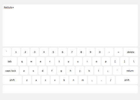 Creating a Keyboard with CSS and jQuery