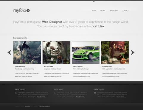 48 Trendy And Fresh Web Interfaces From Deviantart