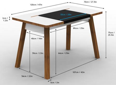 Apple inspired home office furniture design reviver web design