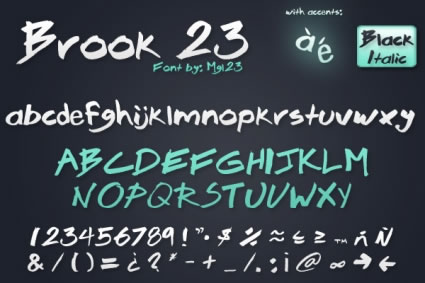 25 Excellent Handwritten Fonts