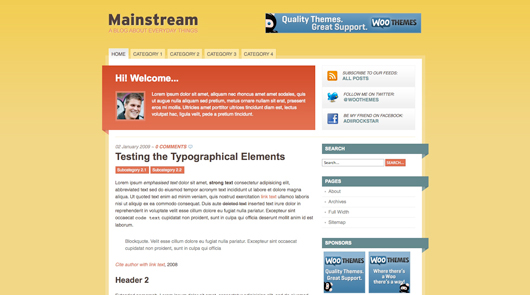 mainstream wp theme