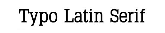 typo latin serif
