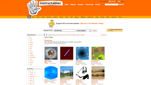 instructables photoshop