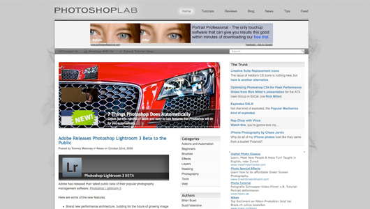 photoshop lab screenshot