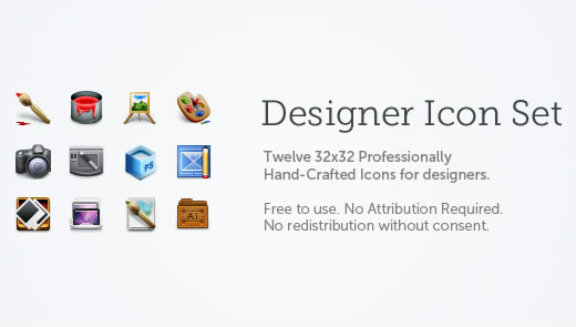Designer Icons – Professionally Hand-Crafted Free Icon Set