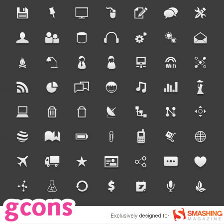 gCons - All-Purpose Icons for Designers and Developers