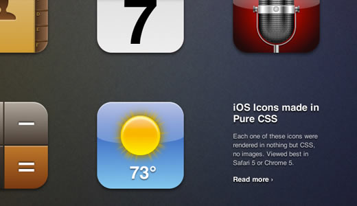 iOS Icons Made in Pure CSS