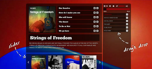 Music Portfolio Template with HTML5 and jQuery