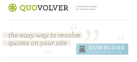 Quovolver - a simple jQuery plugin for revolving quotes