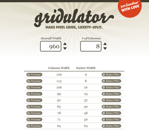Gridulator - Make pixel grids, lickety-split