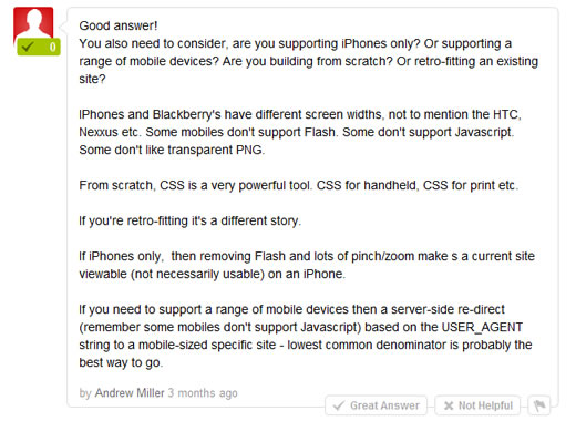 What's the Best Solution for Supporting iPhones?