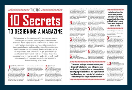 Example of Magazine Typography