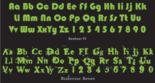 Decorative Typeface Example