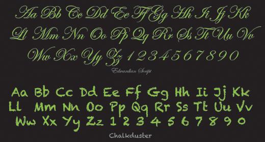 Script Typeface Example