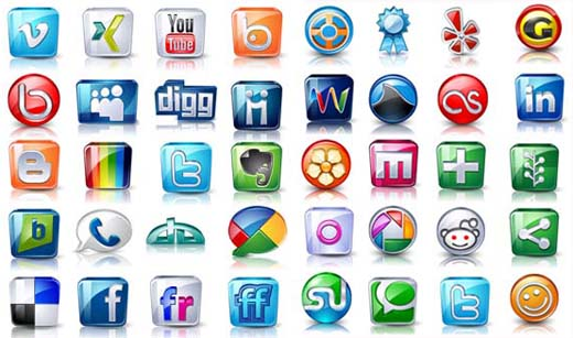 Examples of Social Media Icons