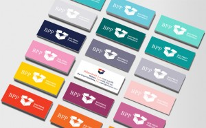 Business cards - multi-colored minicards