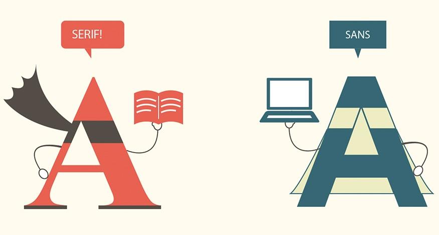 Serif Vs Sans The Final Battle Design Reviver Web Design Blog