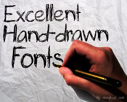 hand-drawn-fonts