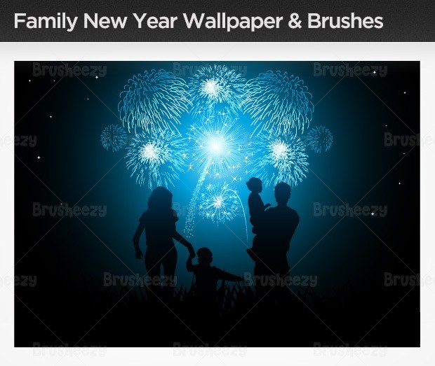 family-new-year-brush