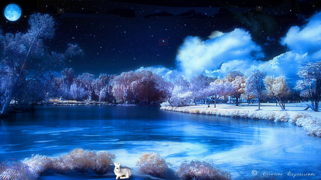 25 beautiful winter wallpapers design reviver web design blog - Snow night city wallpaper ...