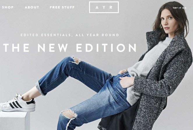 AYR - eCommerce Inspiration